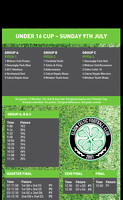 01 U16 Teams and Pitches